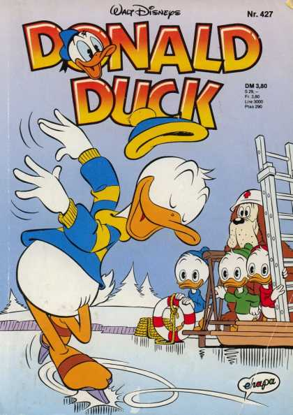 Donald Duck (German) 184 - Disney - Walt Disney - Heuy - Dewey - Louie