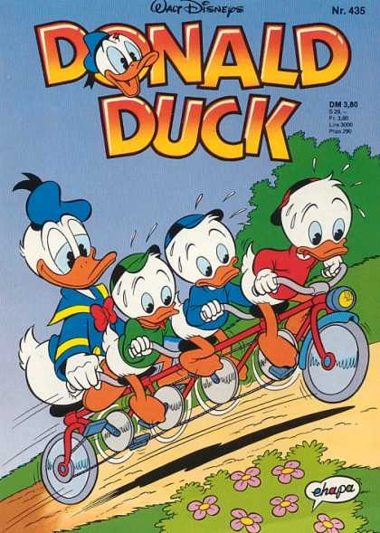 Donald Duck (German) 191 - Disney - Huey - Duey - Louie - Tandem Bicycle