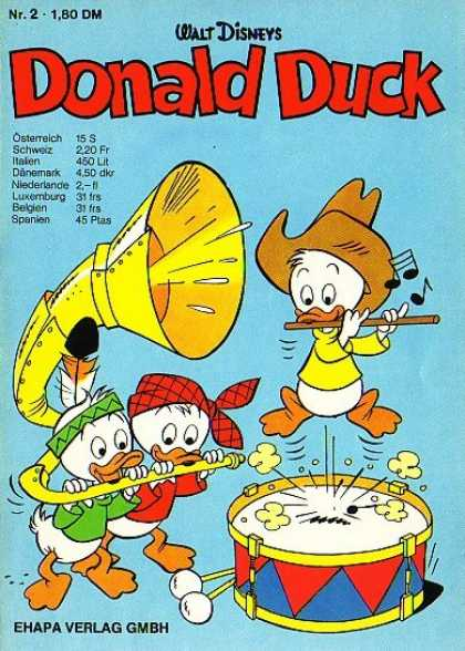 Donald Duck (German) 2 - Walt Disney - Music Instruments - Ehapa Verlag Gmbh - Notes - Osterreich