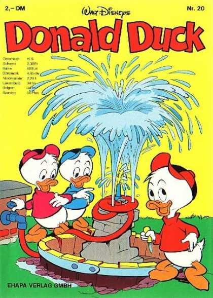 Donald Duck (German) 20 - Well - Huey - Louie - Ducks - Water Splash