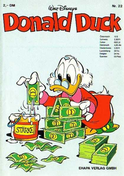 Donald Duck (German) 22 - Walt Disney - Money - Scrooge Mcduck - Glue - House Of Money