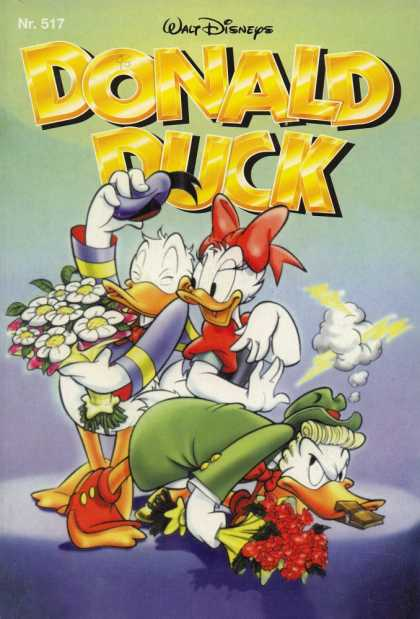 Donald Duck (German) 252 - Walt Disney - No 517 - Red Bow - Blue Hat - White Duck