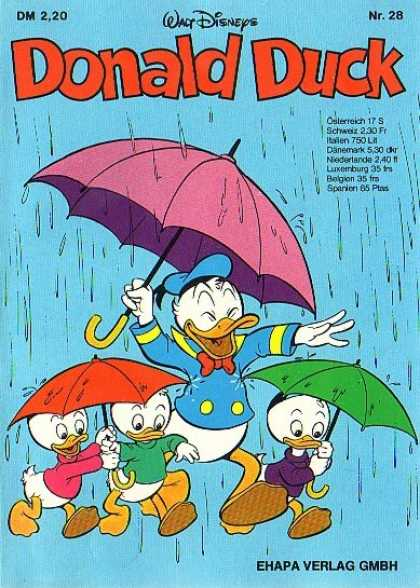 Donald Duck (German) 28 - Singing In The Rain - Splashing Out - Puddle Ducks - Umbrella Days - Its Raining Again