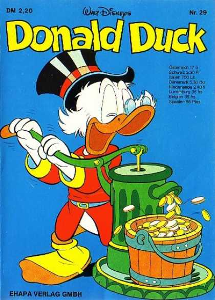 Donald Duck (German) 29 - Walt Disneys - Scrooge - Money - Ehapa - Ostorreich