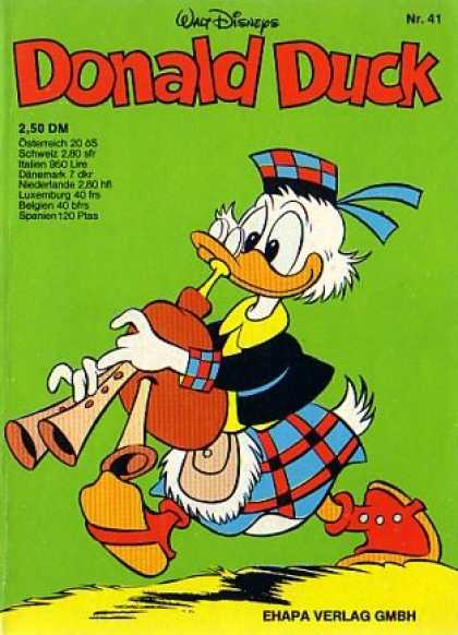 Donald Duck (German) 40 - Walt Disney - Bagpipe - Music - Nr 41 - Ehapa Verlag Gmbh