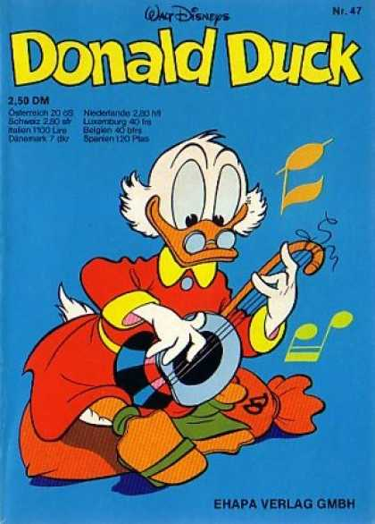 Donald Duck (German) 46 - Musical Notes - Lute - Money Bag - Red Coat - Glasses