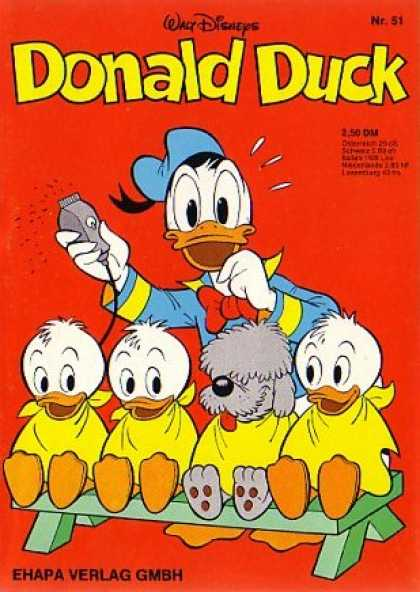 Donald Duck (German) 50 - Donald The Beautician - Dog - Ducklings - One Doesnt Belong - Barber