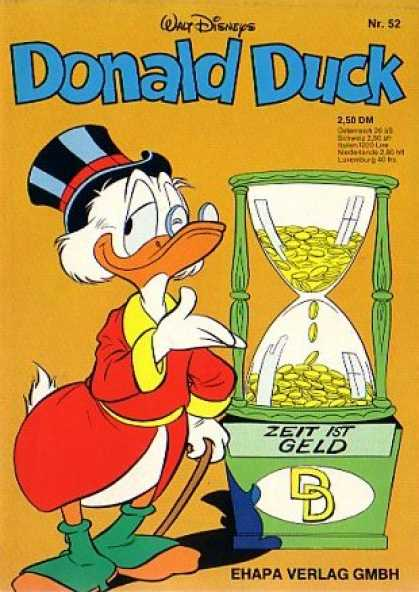 Donald Duck (German) 51 - Uncle Scrooge - Hour Glass - Gold Coins - Top Hat - Zeit 1st Geld