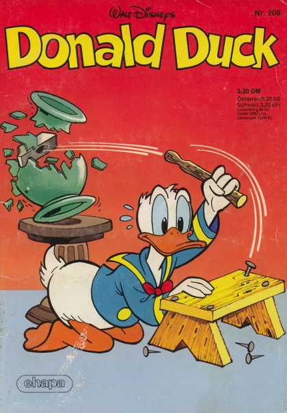 Donald Duck (German) 93 - Walt Disneys - Ehapa - Hammer - Duck - Vase