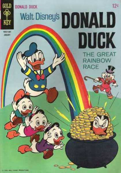 Donald Duck 105 - Walt Disneys - Sailor Duck - The Great Rainbow Race - Pot Of Gold - Three Duck Nephews