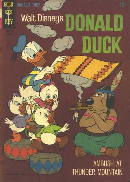 Donald Duck 106 - Rug - Smoke Signals - Gold Key - Ambush At Thunder Mountain - Drums