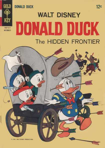 Donald Duck 110 - Huey - Duey - Luey - The Hidden Frontier - Covered Wagon