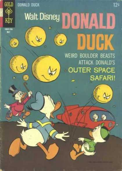 Donald Duck 113 - Gold Key - Walt Disney - Outer Space Safari - Uncle Scrooge - Weird Boulder Beast