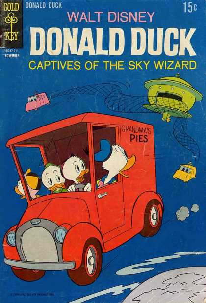 Donald Duck 128 - Walt Disney - Grandmas Pies - Captive Of The Sky Wizard - Gold Key - Truck