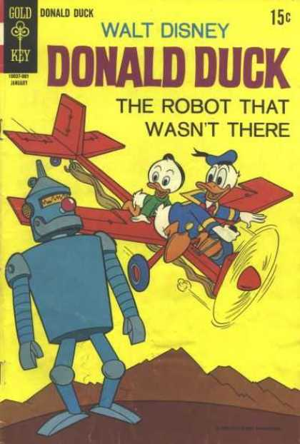 Donald Duck 129 - Nephew - Plane - Robot - Elastic Powered Plane - Giant