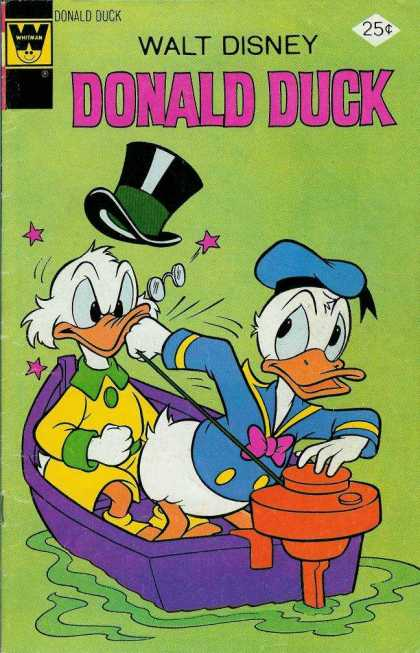 Donald Duck 167 - Disney - Uncle Scrooge - Top Hat - Boat - 25 Cents