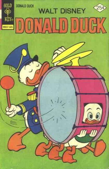 Donald Duck 171 - Donald - Baby - Drum - Sneer - Drum Stick