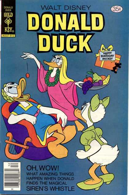 Donald Duck 202 - Fruit - Bow - Lounging - Feeding - Servant