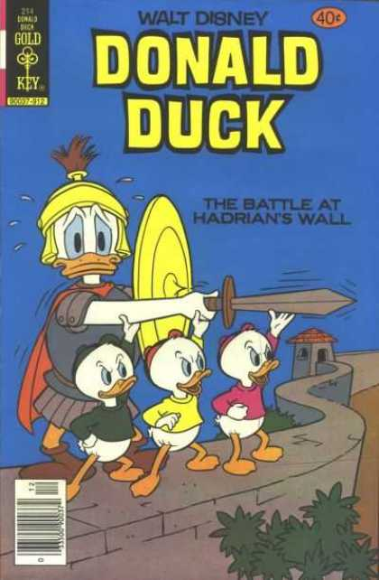 Donald Duck 214 - Gold Key - Walt Disney - Disney - Duck - Blue Cover