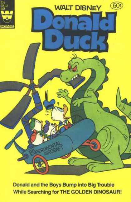 Donald Duck 236 - Walt Disney - The Golden Dinosaur - Experimental Aircraft - Huey - Louie