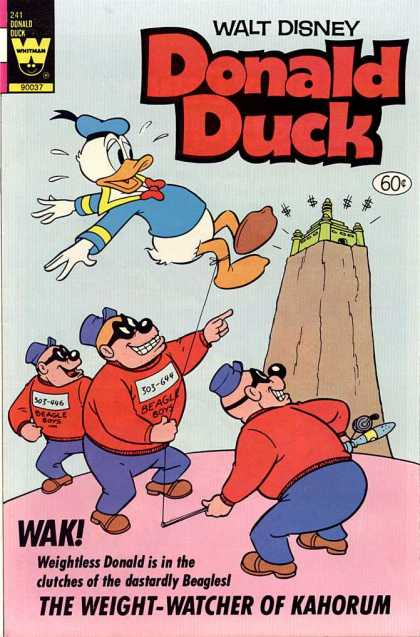 Donald Duck 241 - Walt Disney - Whitman - Beagle Boys - Weightless - Kahorum