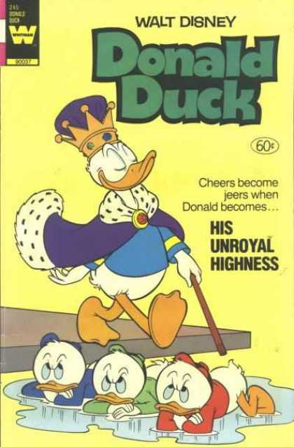 Donald Duck 245 - Crown - Cape - Cane - Puddle - His Unroyal Highness