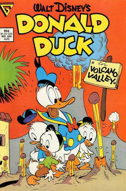 Donald Duck 256 - Volcano - Rocks - Caps - Tree - Eruptions