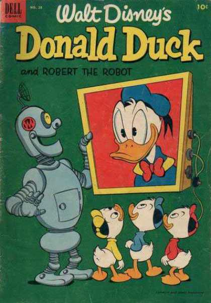 Donald Duck 28 - Walt Disney - Screen - Robot - Donald - Kids