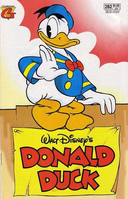 Donald Duck 282 - Gladston - Ribbon - Clouds - Walt Disneys - 282