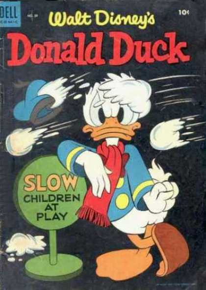 Donald Duck 39 - Disney - Dell - Children - Duck - Snowball