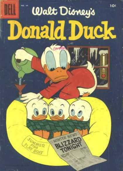 Donald Duck 44 - Walt Disneys - Dell - 10 Cents - Winter News - Blizzard Nights