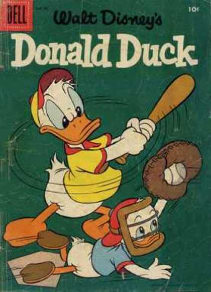 Donald Duck 49 - Walt Disney - Dell - Baseball - Bat - Yellow Shirt