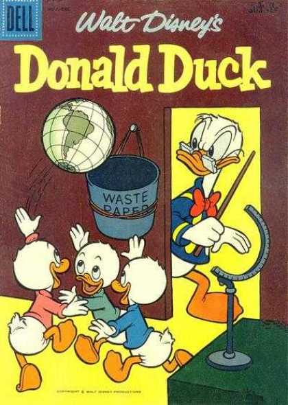 Donald Duck 62 - Waste Paper - Globe - Ducklings - Walt Disney - Playing