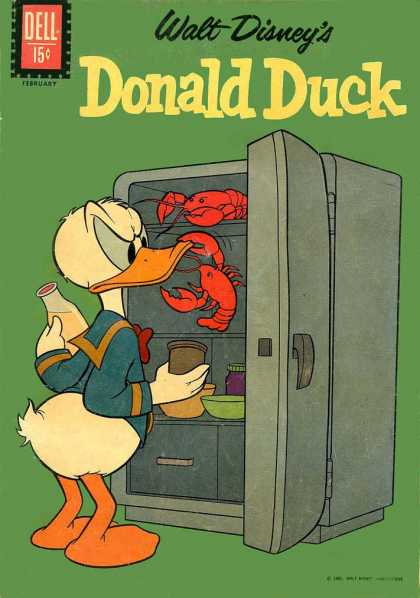 Donald Duck 81 - Lobsters - Refrigerator - Milk - Donald - Angry
