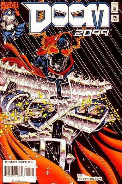 Doom 2099 26 - Marvel - Dr Doom - Red Eyes - Rain - Red Cape