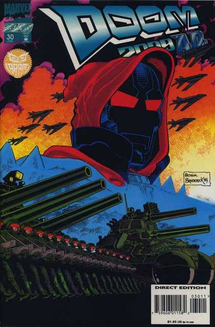 Doom 2099 30 - Doom 2009 Ad - Tanks - Soldiers - Jets - Clouds