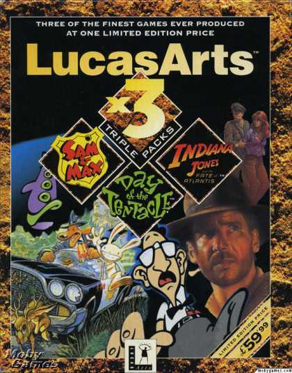 DOS Games - LucasArts x3 Triple Packs: Graphical Adventures