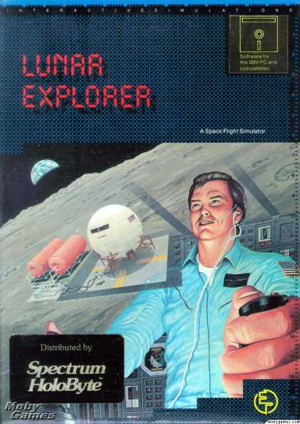 DOS Games - Lunar Explorer: A Space Flight Simulator