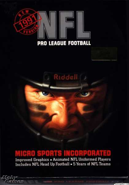 DOS Games - NFL Pro League Football (1991 edition)