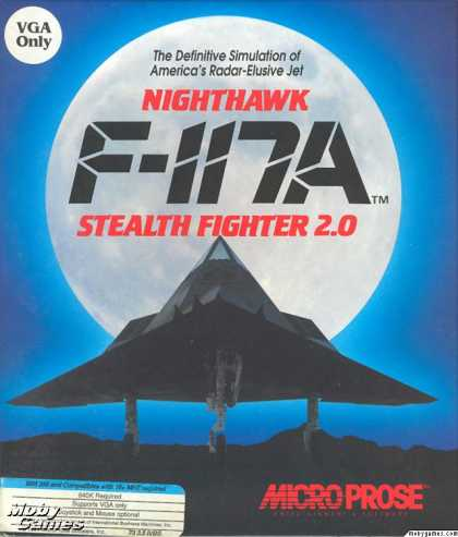 DOS Games - Night Hawk: F-117A Stealth Fighter 2.0