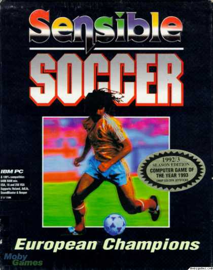 DOS Games - Sensible Soccer: European Champions: 92/93 Edition