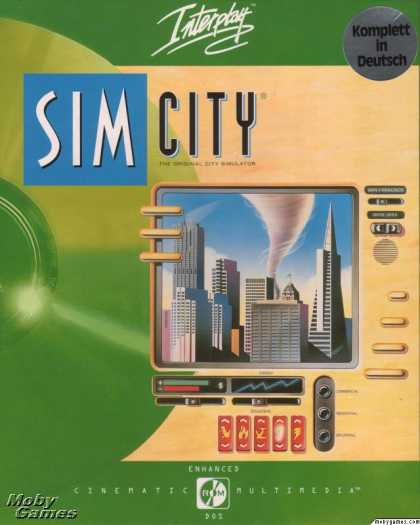 DOS Games - SimCity Enhanced CD-ROM