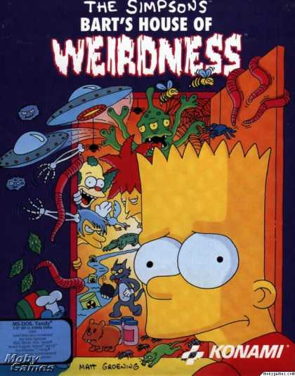 DOS Games - The Simpsons: Bart's House of Weirdness