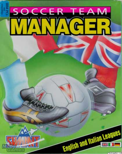 DOS Games - Soccer Team Manager: English and Italian Leagues