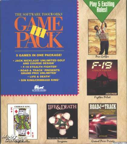 DOS Games - The Software Toolworks Game Pack III