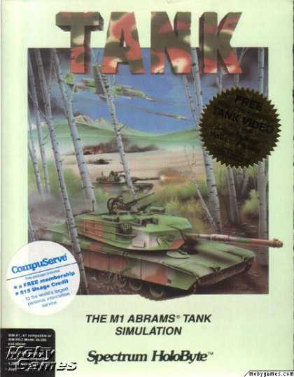 DOS Games - Tank: The M1A1 Abrams Battle Tank Simulation