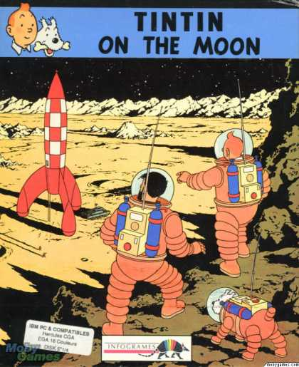 DOS Games - Tintin on the Moon