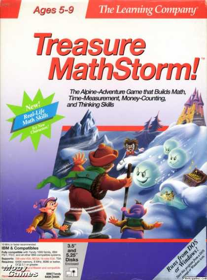 DOS Games - Treasure MathStorm!