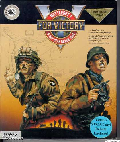 DOS Games - V for Victory: D-Day Utah Beach