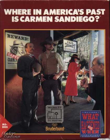 DOS Games - Where in America's Past is Carmen Sandiego?